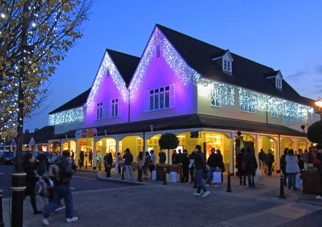 Bicester Village dressed for Christmas